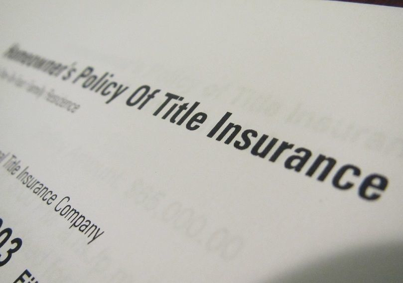 Title insurance policy