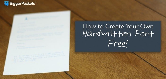 How to make handwritten font