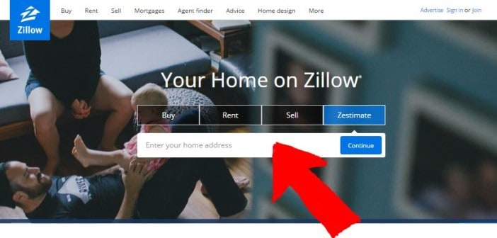 PIC 4 - Zillow home page