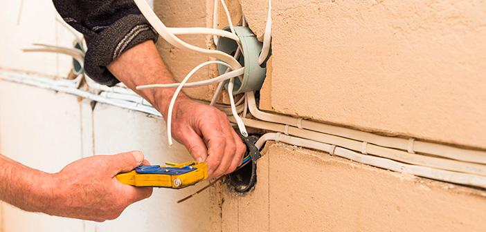 home renovation with electrical wires