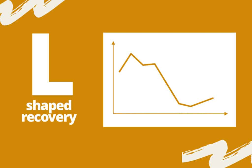 chart visualizing what L-shaped recovery looks like